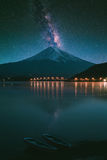 Mount Fuji на kawaguchiko озера Стоковое фото RF