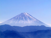 Mount Fuji. View of Mount Fuji in February Stock Photography