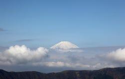 Mount Fuji. Enshrouded in clouds Royalty Free Stock Photo