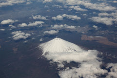 Mount Fuji. Enshrouded in clouds Royalty Free Stock Photography