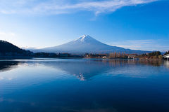 Mount fuji in autumn, Kawaguchi lake, Japan stock images