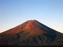 Mount Fuji 2. Majestic Mount Fuji in summer time, in early sunrise light. Zoom in on the peak Stock Image