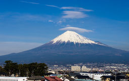 Mount Fuji. Japan,View from high speed train stock images