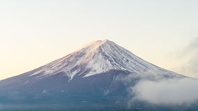 Mount fuji in autumn morning at kawaguchiko lake japan royalty free stock photos