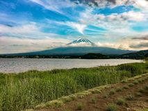 Mount Fuji background stock image