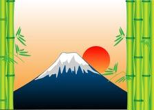 Mount Fuji Bamboo Stock Image