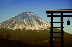 Mount Fuji with Bell Stock Photos