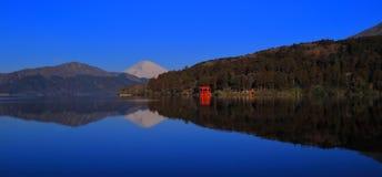 Mount Fuji of Blue sky Fine weather from Lake Ashi Hakone Town Japan royalty free stock photo