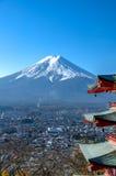 Mount Fuji with blue sky Royalty Free Stock Photos