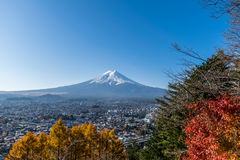 Mount Fuji with blue sky in Japan Stock Photos