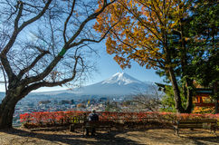 Mount Fuji with blue sky Stock Photography