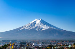 Mount Fuji with blue sky Royalty Free Stock Images