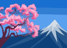Mount Fuji and cherry blossom Royalty Free Stock Photos