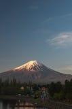 Mount Fuji with Clear sky at Kawakuchigo lake. Long exposure. Stable Lake Kawakuchigo Royalty Free Stock Photography
