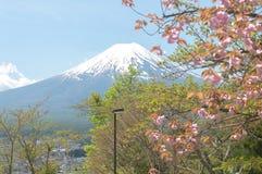 Mount Fuji with Clear sky at Kawakuchigo lake. Long exposure. Stable Lake Kawakuchigo Stock Photography