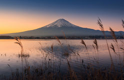 Mount Fuji at dawn Stock Photography