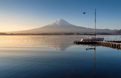 Mount Fuji in the early morning Stock Photography
