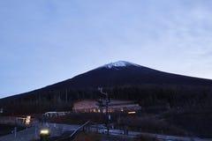 Mount Fuji enshrouded in clouds Stock Photo