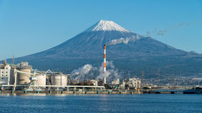 Mount Fuji and factory Royalty Free Stock Photography