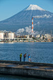 Mount Fuji and factory Royalty Free Stock Image