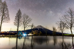 Mount Fuji Fujisan star Stock Photography