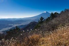 Mount Fuji and Fujiyoshida city Stock Image