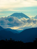 Mount Fuji. A glorious shot of Mount Fuji taken from neighbouring Mount Takao royalty free stock images