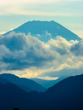 Mount Fuji. A glorious shot of Mount Fuji taken from neighbouring Mount Takao stock images