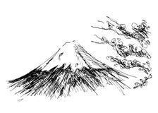 Mount Fuji. Hand sketch of Mount Fuji Royalty Free Stock Images