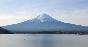 Mount Fuji. Is the highest mountain in Japan royalty free stock image