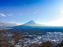 Mount Fuji i Japan som tas från kawaguchiko Arkivfoton