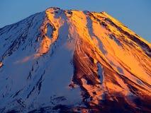 Mount Fuji i solnedgångglöd, ett världsarv Royaltyfri Fotografi