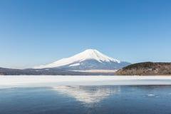 Mount Fuji Iced Yamanaka Lake Stock Photography