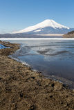 Mount Fuji Iced Yamanaka Lake Royalty Free Stock Images