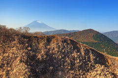 Mount Fuji, Japan. Mount Fuji. An active volcano and the highest mountain in Japan royalty free stock image