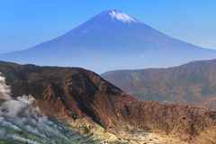 Mount Fuji, Japan. Mount Fuji. An active volcano and the highest mountain in Japan stock photo