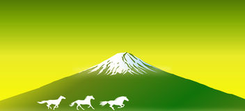 Mount FUJI of Japan National Symbol.  Royalty Free Stock Images