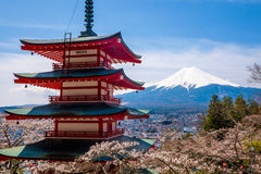 The mount Fuji, Japan. View of the majestic mount Fuji in Japan Stock Image
