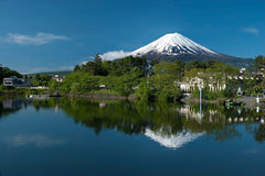 Mount Fuji from Kawaguchiko lake in Japan Royalty Free Stock Photography