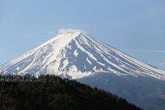 Mount Fuji from Kawaguchiko lake. Royalty Free Stock Images