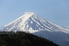 Mount Fuji from Kawaguchiko lake. Royalty Free Stock Images