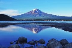 Mount Fuji and Kawaguchiko lake Royalty Free Stock Image