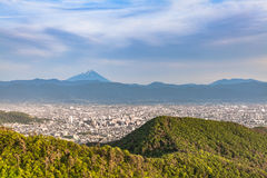 Mount Fuji and Kofu city Stock Images