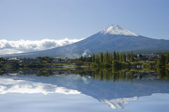Mount Fuji and lake. Royalty Free Stock Photo