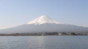 Mount Fuji with Lake Kawaguchi stock video footage