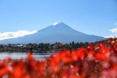 Mount Fuji at Lake Kawaguchi, Japan royalty free stock image