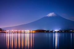 Mount Fuji and lake Kawaguchi Stock Photo