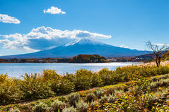 Mount Fuji from lake Kawaguchiko Royalty Free Stock Image