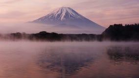 Mount Fuji from Lake Shoji with twilight sky. Mount Fuji from Lake Shoji Shojiko at dawn with twilgiht sky, Japan Stock Photos