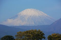 Mount Fuji. In late autumn royalty free stock photos